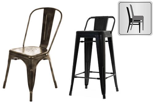 GGM Möbel International | Série California - Chaises en métal ...