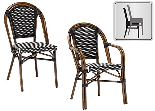Ggm möbel international serie kreta sedie da terrazza rattan
