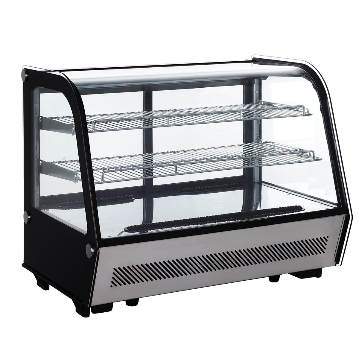 Tisch Kühlvitrine 160 Liter Silber