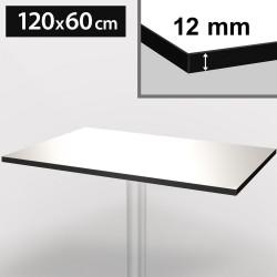 Bistro Terrassen Tischplatte | 120x60cm | Weiß | 100% HPL | Compact Werzalit Restaurant Gastro Garten Wetterfest Outdoor Aussen Tisch Gastronomie Stehtisch Möbel