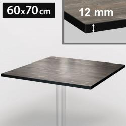 Bistro bordsskiva | 60 x 70 cm | Grå och svart | Kompakt | Compact Gastro restaurang träskiva bord gastronomi ståbord möbel