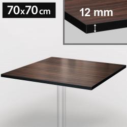 Bistro bordsskiva | 70 x 70 cm | Valnöt och vit | Kompakt | Compact träskiva Gastro restaurang bord gastronomi ståbord möbel