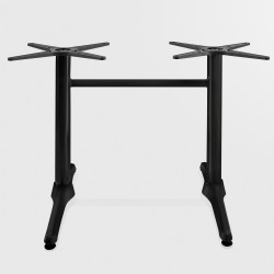 Gastro Bistro double table pillar ~ rectangular ~ height 72 cm ~ black ~ table support