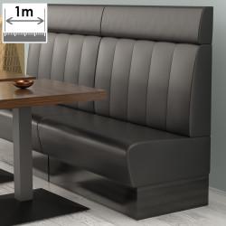 (NEW) Denver Gastro Bank | B100xH128cm | Schwarz | Gestreift  | Bistro Sitzbank Lounge Polster Restaurant