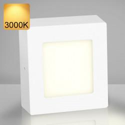 EMPIRE   LED Panel 120x120mm   6W   3000K   Warm Weiß   Quadrat Aufputz Leuchte Lampe