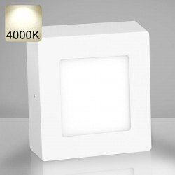 EMPIRE   LED Panel 120x120mm   6W   4000K   Neutral Weiß   Quadrat Aufputz Leuchte Lampe