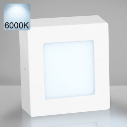 EMPIRE   LED Panel 120x120mm   6W   6000K   Kalt Weiß   Quadrat Aufputz Leuchte Lampe