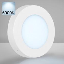 EMPIRE | LED Panel | Aufbau | Ø120mm | 6W | 6000K | Kalt Weiß | Rund Aufputz Leuchte Lampe