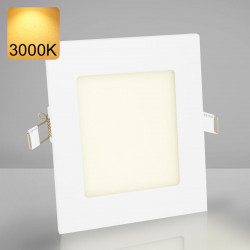 EMPIRE | Einbau LED Panel | 120x120mm | 6W | 3000K | Warm Weiß | Quadrat Spot Strahler Leuchte Lampe