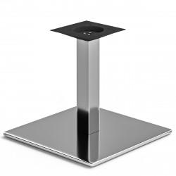 MADRID | Bistro Lounge Tisch Gestell | 45x45cm | 6x36cm | Edelstahl  | Fuß Bein Säule Quadratisch
