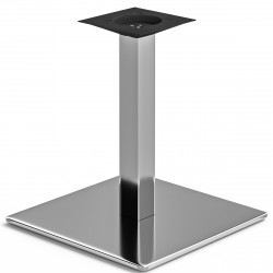 MADRID | Bistro Lounge Tisch Gestell | 45x45cm | 6x46cm | Edelstahl  | Fuß Bein Säule Quadratisch