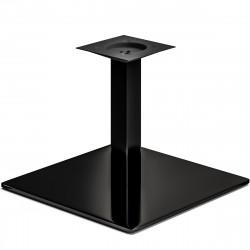MADRID | Bistro Lounge Tisch Gestell | 50x50cm | 6x36cm | Schwarz  | Fuß Bein Säule Quadratisch