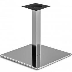 MADRID | Bistro Lounge Tisch Gestell | 50x50cm | 6x46cm | Edelstahl  | Fuß Bein Säule Quadratisch
