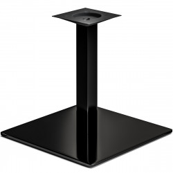 MADRID | Bistro Lounge Tisch Gestell | 50x50cm | 6x46cm | Schwarz  | Fuß Bein Säule Quadratisch