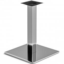 MADRID | Bistro Tisch Gestell | 50x50cm | 8x60cm | Edelstahl  | Fuß Bein Säule Quadratisch