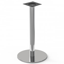 NIZZA | Bistro Steh Tisch Gestell | Ø45cm | 7,6x105cm | Edelstahl  | Bar Fuß Bein Säule Rund