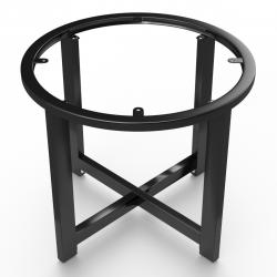 ORLANDO | Bistro Lounge Tisch Gestell | Ø68,5xH50cm | Schwarz  | Fuß Bein Säule Rund