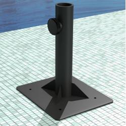 ALBA Sonnenschirmständer | 0,25x0,25m | Anthrazit | Stahl | Schirm Fuß Ampel Ampelschirm Sonnenschirmfuß