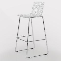 Barstol - Transparent - siddehøjde: 73,5 cm