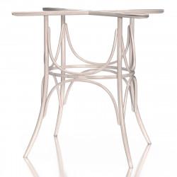 ELENA Bugholz Tischgestell | H73cm | Weiß  | Bistro Gastro Wiener Gestell Tischfuß Tischbein Untergestell Tischsäule