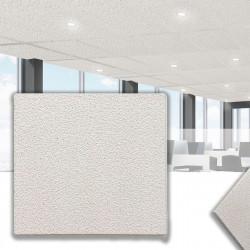 CALGARY Mineralfaserplatte 60x60cm | Weiß | Rasterdeckenplatten | Mineral Faser Akustik Decken Raster Platten