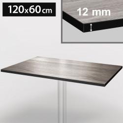 Bistro Terrassen Tischplatte | 120x60cm | Grau | 100% HPL | Compact Werzalit Restaurant Gastro Garten Wetterfest Outdoor Aussen Tisch Gastronomie Stehtisch Möbel