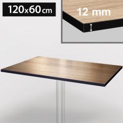 Bistro Terrassen Tischplatte | 120x60cm | Light Wenge | 100% HPL | Compact Werzalit Restaurant Gastro Garten Wetterfest Outdoor Aussen Tisch Gastronomie Stehtisch Möbel