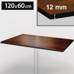 Bistro Terrassen Tischplatte | 120x60cm | Nußbaum | 100% HPL | Compact Werzalit Restaurant Gastro Garten Wetterfest Outdoor Aussen Tisch Gastronomie Stehtisch Möbel