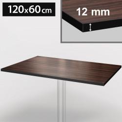 Bistro Terrassen Tischplatte | 120x60cm | Walnuß | 100% HPL | Compact Werzalit Restaurant Gastro Garten Wetterfest Outdoor Aussen Tisch Gastronomie Stehtisch Möbel