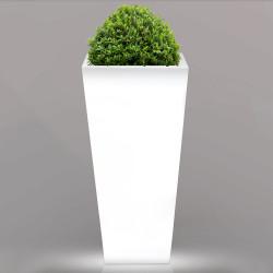 FLAMINGO Blumentopf Leuchte | E27 | 400xH800mm | Kabel | Beleuchteter Pflanzkübel Blumenkübel Pflanztopf Übertopf Kübel Lampe Gartentopf Gartenkübel