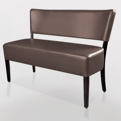 LUCA Bistro Sitzbank 1,2m | Leder | Taupe  | Gastro Bank Lounge Stuhl Polster