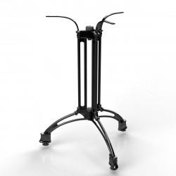 MALAGA | Bistro Tisch Gestell | 3 Fuß | Ø60cm | H72cm | Guss Optik | Schwarz  | Eisen Terrassen Outdoor Bein Säule Außen