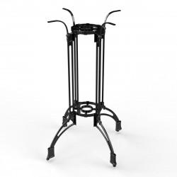MALAGA | Bistro Steh Tisch Gestell | 4 Fuß | Ø82cm | H108cm | Guss Optik | Schwarz  | Eisen Bar Terrassen Outdoor Bein Säule Außen