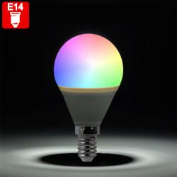 PIA RGB LED   Leuchtmittel   Tropfen Glühbirne   E14 - P45   Farbwechsel   Fernbedienung   Birne Tropfenlampe Lampe
