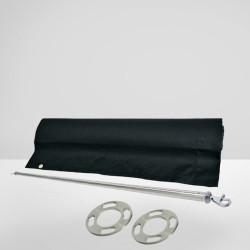 ROYAL Cafe Tuch Barrier | 150x70 | Schwarz | Absperrung  | Gastro Sichtschutz Abgrenzungsständer Absperrständer Kordelständer Abgrenzungspfosten Kordelpfosten
