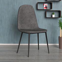 SENA Bistro Stuhl | Grau | Stoff  | Schalenstuhl Design Retro Schalen Gastro Restaurant Hotel Caffee Kaffee Gastronomie Brasserie Eiscafe