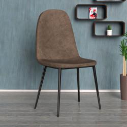 SENA Bistro Stuhl | Braun | Stoff  | Schalenstuhl Design Retro Schalen Gastro Restaurant Hotel Caffee Kaffee Gastronomie Brasserie Eiscafe