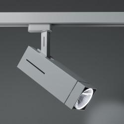 TORONTO Stromschiene Strahler LED | 12W | 4000K | Hell Grau | 3 Phasen - Schienensystem | Hochvolt  | Stromschienen Spot Schienen Lampe Leuchte Lichtschiene Schaufensterbeleuchtung Laden Shop Beleuchtung
