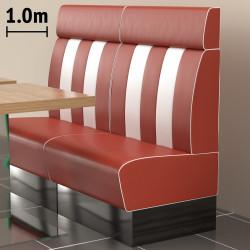 (NEW) American 2 | Gastro Bank | B100xH128cm | Rot & Weiß  | Diner Bistro Sitzbank Lounge Polster Restaurant