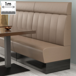 (NEW) Denver Gastro Bank | B100xH128cm | Taupe | Gestreift  | Bistro Sitzbank Lounge Polster Restaurant