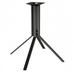 ELVAS Bistro Tischgestell | H76cm | 4 Fuß | Schwarz Matt  | Gestell Tischfuß Tischbein Untergestell Tischsäule