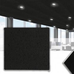 CALGARY Mineralfaserplatte 62x62cm | Schwarz | Rasterdeckenplatten | Mineral Faser Akustik Decken Raster Platten