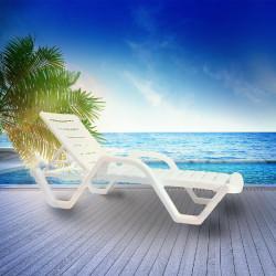 HAWAI Sonnenliege | Weiß | Stapelbar  | Hotel Strandliege.Stapelbar Poolliege.Stapelbar Bäderliege.Stapelbar
