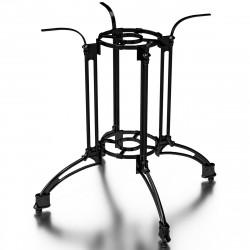 MALAGA | Bistro Tisch Gestell | 4 Fuß | Ø82cm | H72cm | Guss Optik | Schwarz  | Eisen Terrassen Outdoor Bein Säule Außen