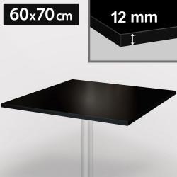 Bistro Terrassen Tischplatte | 60x70cm | Schwarz | 100% HPL | Compact Werzalit Gastro Restaurant Garten Outdoor Aussen Wetterfest Tisch Gastronomie Stehtisch Möbel
