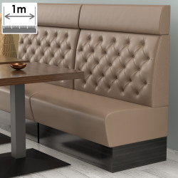 (NEW) Denver Gastro Bank   B100xH128cm   Taupe   Chesterfield    Bistro Sitzbank Lounge Polster Restaurant
