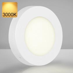 EMPIRE | LED Panel | Aufbau | Ø120mm | 6W | 3000K | Warm Weiß | Rund Aufputz Leuchte Lampe