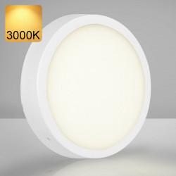 EMPIRE   Aufbau LED Panel   Ø300mm   24W   3000K   Warm Weiß   Rund Aufputz Leuchte Lampe