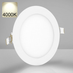 EMPIRE | LED Panel | Einbau | Ø146mm | 9W | 4000K | Neutral Weiß | Rund Spot Strahler Leuchte Lampe