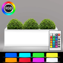 FLAMINGO Blumentopf Leuchte | LED RGB | 1200x400mm | Akku | Beleuchteter Pflanztopf Blumenkübel Pflanzkübel Übertopf Kübel Lampe Gartentopf Gartenkübel
